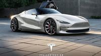 Koncept Tesla Roadster od Peisert Design