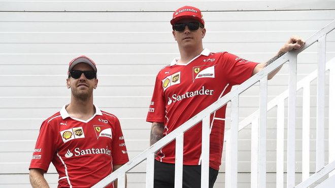 Sebastian Vettel a Kimi Räikkönen v Baku