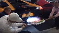 Danny Lambo se rozhodl upéct si pizzu nad výfukem svého Lamborghini