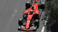 Sebastian Vettel v kvalifikaci v Baku