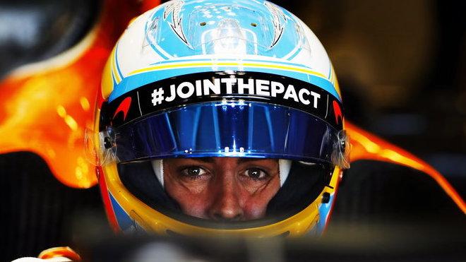 Fernando Alonso v kvalifikaci v Baku
