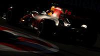 Max Verstappen v kvalifikaci v Baku