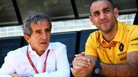 Alain Prost a Cyril Abiteboul v kvalifikaci v Baku