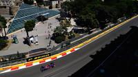Carlos Sainz v kvalifikaci v Baku