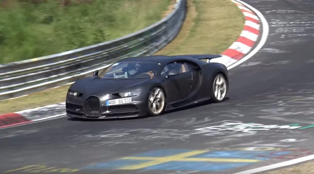 Bugatti testovalo Chiron na Nürburgringu