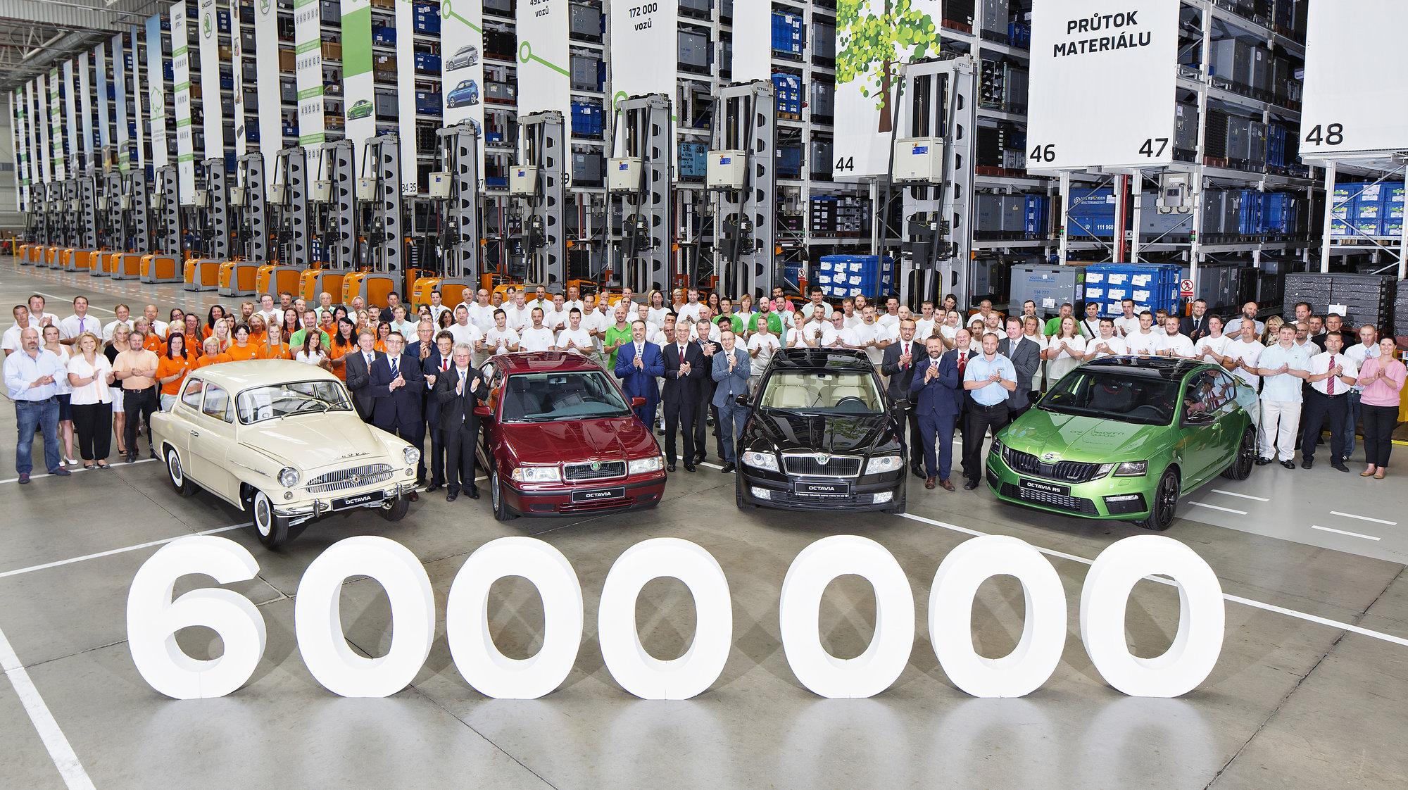 Dnes byla vyrobena šestimiliontá Škoda Octavia