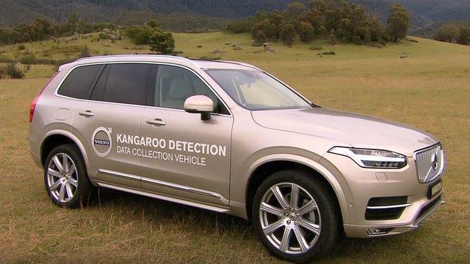 Volvo XC90 určené pro vývoj systému schopného sledovat pohyb klokanů