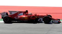 Sebastian Vettel při pátečním tréninku v Rakousku