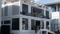 Motorhome týmu Williams v Rakousku