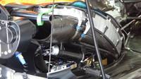 Detailní pohled do útrob vozu McLaren MCL v Rakousku
