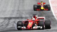 Sebastian Vettel v závodě v Rakousku
