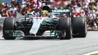 Lewis Hamilton v závodě v Rakousku