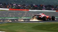 Kimi Räikkönen v kvalifikaci na Velkou cenu Británie