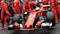 Sebastian Vettel před závodem v Silverstone