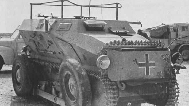 """""""Tank svobody"""" vznikl z obrněného vozu Sd. Kfz 254, jež vycházel z německého transportéru RR-7"""