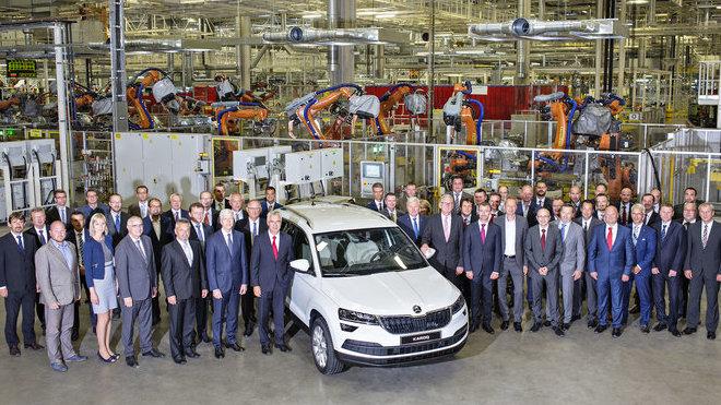 Automobilka Škoda zahájila sériovou výrobu nového SUV Karoq