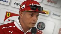 Kimi Räikkönen prozatím není příliš spokojen