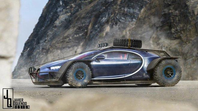 Tohle Bugatti Chiron vypadá jak z filmu Mad Max