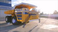 Belaz 75710 je největším automobilem na světě. Technická data jsou extrémní - anotační foto