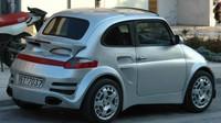 Fiat 500 převlečený za Porsche 911 je skutečně zajímavou designovou podívanou