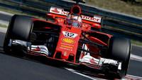 Charles Leclerc při testu Ferrari SF70H v Maďarsku