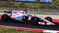 NIkita Mazepin testuje první den vůz Force India VJM10 - Mercedes v Maďarsku