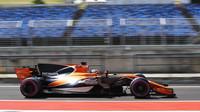 Lando Norris během testů s McLarenem v Maďarsku