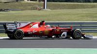 Sebastian Vettel testuje druhý den vůz Ferrari SF70H v Maďarsku
