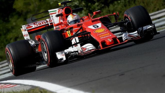 Sebastian Vettel s Ferrari SF70H