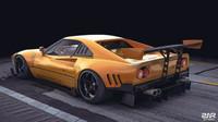 Grafický koncept Ferrari 288 GTO R