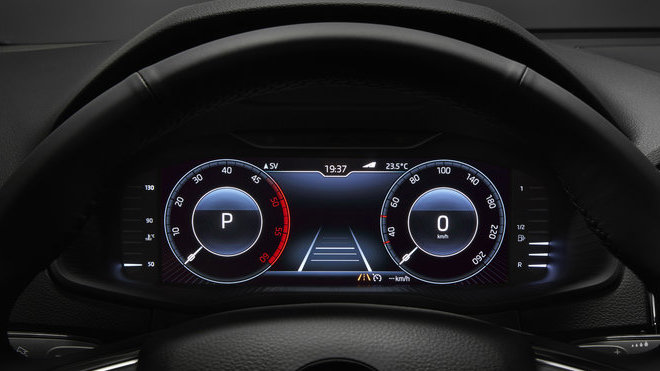Škoda Digital Instrument Panel z modelu Škoda Karoq