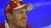 Sebastian Vettel na tiskovce po kvalifikaci v Belgii