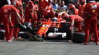 Kimi Räikkönen v kvalifikaci v Belgii