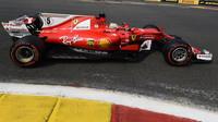 Sebastian Vettel v kvalifikaci v Belgii