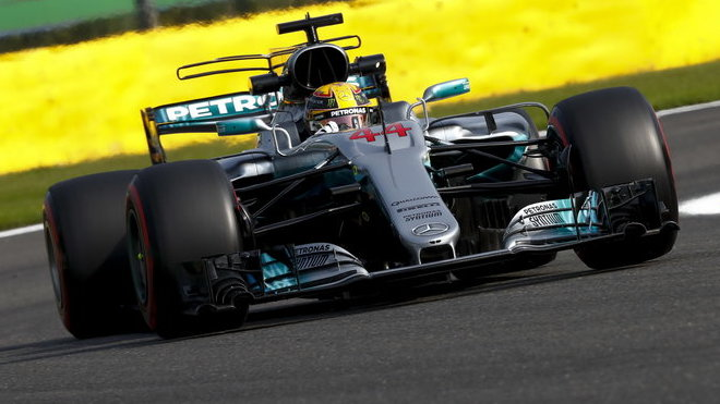 Lewis Hamilton s Mercedesem F1 W08 EQ Power+