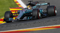 Lewis Hamilton v kvalifikaci v Belgii