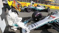 Lewis Hamilton po vítězné kvalifikaci v Belgii