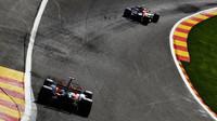 Vozy McLaren v kvalifikaci v Belgii
