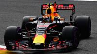 Max Verstappen v kvalifikaci v Belgii