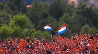 Fanoušci Maxe Verstappena v kvalifikaci v Belgii