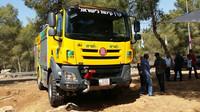 Speciální hasičská Tatra má pomoci hasičům v Izraeli se zvládáním lesních požárů