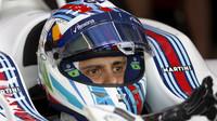 Felipe Massa při tréninku v Belgii