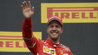 Sebastian Vettel po závodě v Belgii