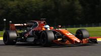 Fernado Alonso v závodě v Belgii