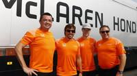 Tým McLaren v Belgii