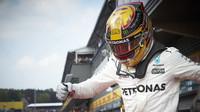 Lewis Hamilton po závodě v Belgii