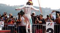 Lewis Hamilton vyhrál závod v Belgii