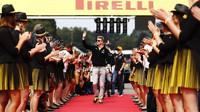 Prezentace jezdců před závodem v Belgii