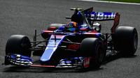Carlos Sainz v kvalifikaci v Belgii