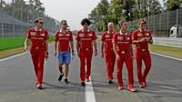 Sebastian Vettel se seznamuje s tratí na Monze v Itálii